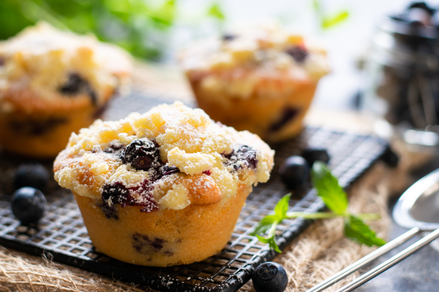 Crumble Muffin ai mirtilli